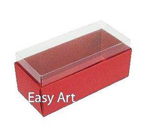 Caixas para 4 Macarons ou 2 Brigadeiros - Vermelho