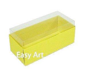 Caixas para 4 Macarons ou 2 Brigadeiros - Amarelo