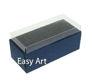 Caixas para 4 Macarons ou 2 Brigadeiros - Azul Marinho
