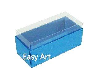 Caixas para 4 Macarons ou 2 Brigadeiros - Azul Turquesa
