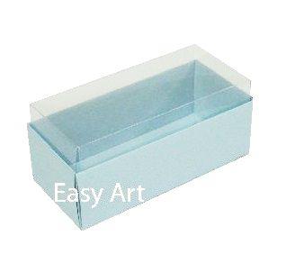 Caixas para 4 Macarons ou 2 Brigadeiros - Azul Claro