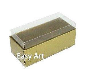 Caixas para 4 Macarons ou 2 Brigadeiros - Dourado Brilhante