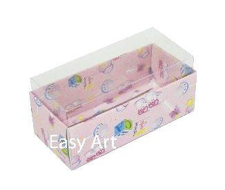 Caixas para 4 Macarons ou 2 Brigadeiros - Estampado Bebê Rosa