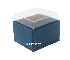 Caixas para Dois Macarons - Azul Marinho