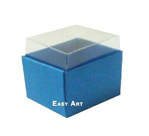 Caixas para Dois Macarons - Azul Turquesa