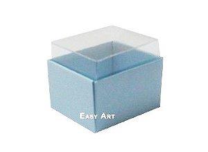 Caixas para Dois Macarons - Azul Claro
