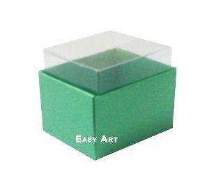 Caixas para Dois Macarons - Verde Pistcahe