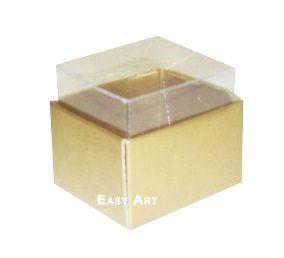 Caixas para Dois Macarons - Dourado