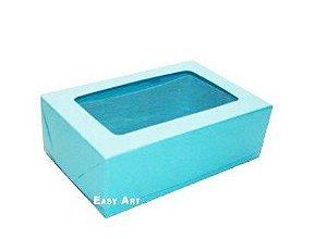 Caixa para 12 Brigadeiros - Azul Tiffany