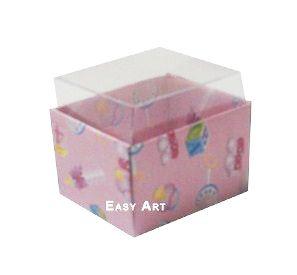 Caixas para Dois Macarons - Estampado Bebê Rosa