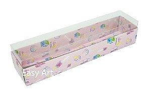 Caixas para 10 Macarons - Estampado Bebê Rosa