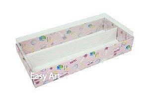 Caixas para Macarons - Estampado Bebê Rosa