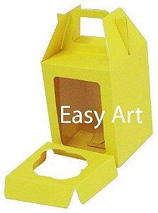 Caixa Maleta para 1 Mini Cupcake - Amarelo