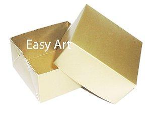 Caixa para 4 Brigadeiros - Dourado