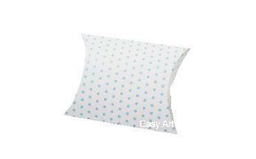 Caixa Almofada - Branco com Poás Azuis