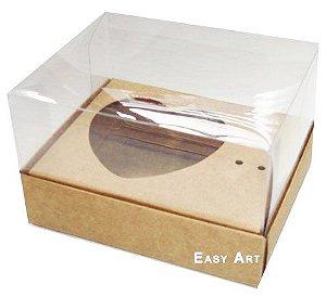 Caixa coração de Colher / 100g - Kraft - Pct com 10 Unidades