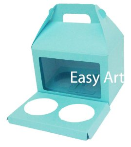 Caixa Maleta para 2 Cupcakes - Azul Tiffany