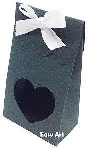 Sacolinha Francesa com Visor Coração Vazado - Verde Musgo