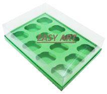 Caixas para 12 Mini Cupcakes - Verde Pistache