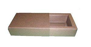 Caixas para 4 Brigadeiros - 12x12x4,5 / Marrom Chocolate
