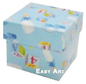 Caixa Tiffany Pequena - Estampado Bebê Azul