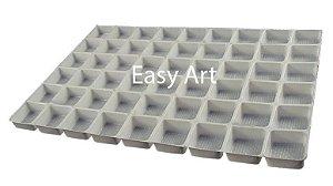 Berços em PVC para Bombons e Brigadeiros - 96 Cavidades - 48x32x2