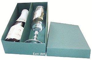 Caixas para Mini Vinho e Taça Sem Visor - Verde Musgo