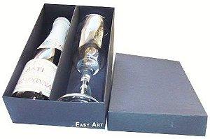 Caixas para Mini Vinho e Taça Sem Visor - Preto