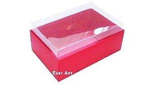 Caixa para 6 Brigadeiros 12x8x4,5 - Vermelho