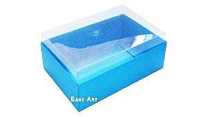 Caixa para 6 Brigadeiros - Azul Turquesa
