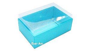Caixa para 6 Brigadeiros - Azul Tiffany