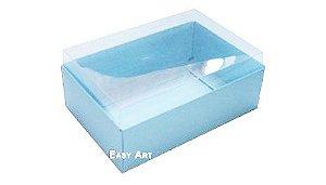Caixa para 6 Brigadeiros - Azul Claro