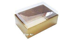 Caixa para 6 Brigadeiros - Dourado Brilhante