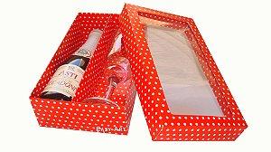Caixas para Mini Vinho / Champanhe com Divisória - 21x12x6