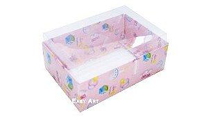Caixa para 6 Brigadeiros - Estampado Bebê Rosa