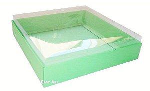 Caixa para 16 Brigadeiros - Verde Pistache