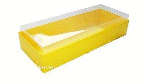 Caixa para 10 Brigadeiros - 20x8x4,5 / Amarelo