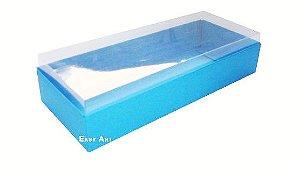 Caixa para 10 Brigadeiros - Azul Turquesa