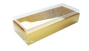 Caixa para 10 Brigadeiros - 20x8x4,5 / Dourado