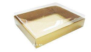 Caixa para 20 Brigadeiros - Dourado Brilhante