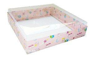 Caixa para 25 Brigadeiros - Estampado Bebê Rosa
