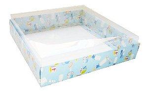 Caixa para 25 Brigadeiros - Estampado Bebê Azul