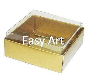 Caixinha para Amêndoas / Bijuteria - Dourado Brilhante