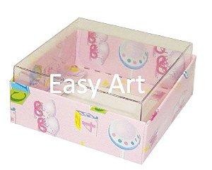 Caixinha para Amêndoas / Bijuteria - Estampado Bebê Rosa
