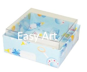 Caixinha para Amêndoas / Bijuteria - Estampado Bebê Azul
