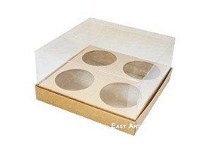 Caixas para Mini Cupcakes - Kraft
