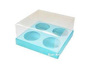 Caixas para Mini Cupcakes - Azul Tiffany