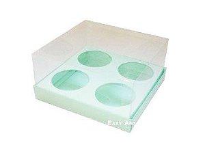 Caixas para Mini Cupcakes - Verde Claro