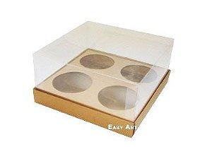 Caixas para Mini Cupcakes - Marrom Claro