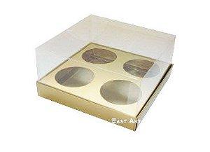 Caixas para Mini Cupcakes - Dourado